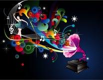 Ilustración del vector de la música Fotografía de archivo