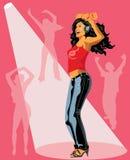 Ilustración del vector de la muchacha de baile. Fotos de archivo libres de regalías