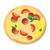 Ilustración del vector de la pizza Fotos de archivo libres de regalías