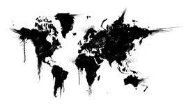 Ejemplo del vector de la salpicadura de la tinta del mundo stock de ilustración