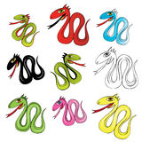 Ilustración del vector de la serpiente stock de ilustración