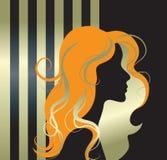 Ilustración del vector de la silueta de la muchacha Fotografía de archivo