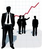 Ilustración del vector de la silueta del hombre de negocios. Imagen de archivo
