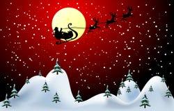 Ilustración del vector de la tarjeta de la Feliz Navidad Foto de archivo