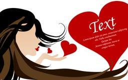 Ilustración del vector de la tarjeta del amor Fotos de archivo