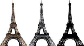 Ilustración del vector de la torre Eiffel Imagen de archivo libre de regalías