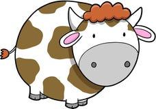 Ilustración del vector de la vaca Fotografía de archivo libre de regalías