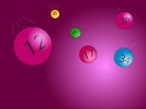 Ilustración del vector de las bolas del bingo Foto de archivo