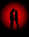 Ilustración del vector de los amantes de las tarjetas del día de San Valentín stock de ilustración