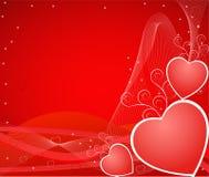 Ilustración del vector de los corazones de la tarjeta del día de San Valentín ilustración del vector