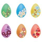 Ilustración del vector de los huevos de Pascua pintados Fotografía de archivo
