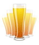 Ilustración del vector de los vidrios de cerveza Fotografía de archivo