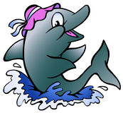 Ilustración del vector de un delfín Fotografía de archivo