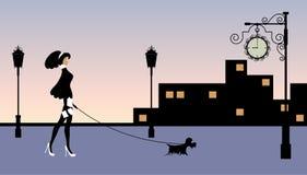 Ilustración del vector de una mujer con estilo Imagen de archivo libre de regalías