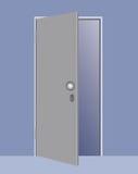Ilustración del vector de una puerta abierta Foto de archivo libre de regalías