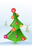 Ilustración del vector de una tarjeta de felicitación de la Navidad Foto de archivo