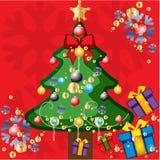 Ilustración del vector del árbol de navidad Imágenes de archivo libres de regalías