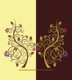 Ilustración del vector del árbol floreciente Imagen de archivo libre de regalías