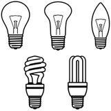 Ilustración del vector del â de las bombillas Imágenes de archivo libres de regalías