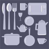 Ilustración del vector del â de los items de la cocina Imagen de archivo libre de regalías