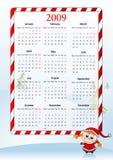 Ilustración del vector del calendario europeo del día de fiesta Foto de archivo