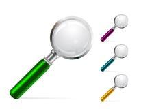 Ilustración del vector del color de la lupa Fotos de archivo libres de regalías