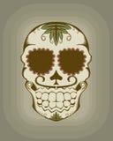 Ilustración del vector del cráneo del azúcar Fotografía de archivo