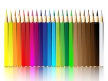 Ilustración del vector del creyón o del lápiz del color Imagenes de archivo