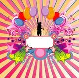Ilustración del vector del cumpleaños Foto de archivo libre de regalías