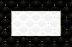 Ilustración del vector del fondo de cuero negro Fotografía de archivo