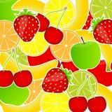Ilustración del vector del fondo de las frutas frescas libre illustration