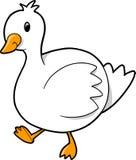 Ilustración del vector del ganso del pato Fotos de archivo