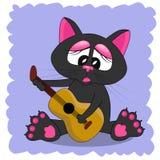 Ilustración del vector del gato Fotografía de archivo