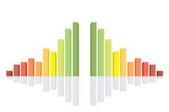 Ilustración del vector del gráfico 3d Imagen de archivo libre de regalías