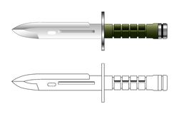 Ilustración del vector del knief del ejército stock de ilustración