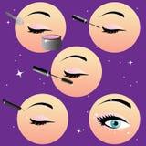 Ilustración del vector del maquillaje Imagen de archivo libre de regalías