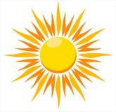 Ilustración del vector del sol ardiente Fotos de archivo libres de regalías