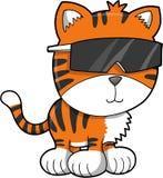 Ilustración del vector del tigre stock de ilustración