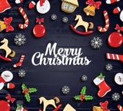 Ilustración del vector Diseño de la Feliz Navidad y de la Feliz Año Nuevo 2018 libre illustration
