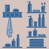 Ilustración del vector Elementos del cuarto de baño Imagen de archivo