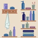 Ilustración del vector Elementos del cuarto de baño Imágenes de archivo libres de regalías