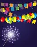 Ilustración del vector firework Fotografía de archivo libre de regalías