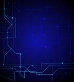 Ilustración del vector Fondo abstracto del azul de la tecnología Fotos de archivo