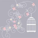 Ilustración del vector La jaula de pájaro ilustración del vector