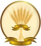 Ilustración del vector. Oídos del trigo y de las cintas. Imágenes de archivo libres de regalías