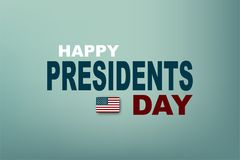 Ilustración del vector Presidentes Day en los E.E.U.U. Presidente Day del cartel EPS10 Foto de archivo libre de regalías