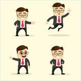 Ilustración del vector Sistema del hombre de negocios en diversas actitudes Fotos de archivo
