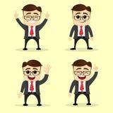 Ilustración del vector Sistema del hombre de negocios en diversas actitudes Imagen de archivo libre de regalías