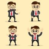 Ilustración del vector Sistema del hombre de negocios en diversas actitudes Fotografía de archivo