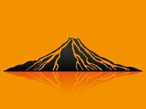 Ilustración del vector volcán ilustración del vector